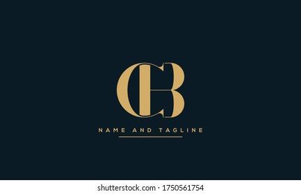 alphabet letters monogram icon logo CB or BC
