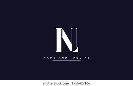 alphabet letters monogram icon logo LN or NL