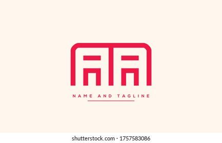 alphabet letters monogram icon logo AA