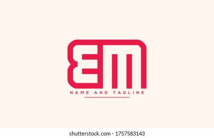 alphabet letters monogram icon logo BM or MB