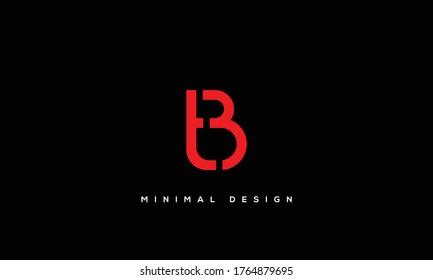 alphabet letters monogram icon logo BT or TB