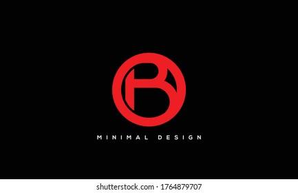 alphabet letters monogram icon logo BO or OB
