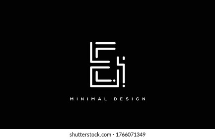 alphabet letters monogram icon logo EI or IE