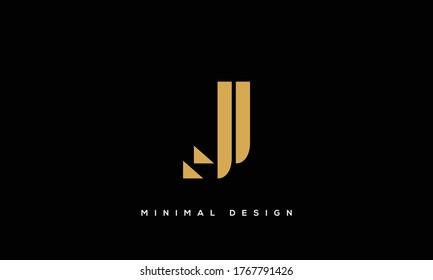 alphabet letters monogram icon logo JJ