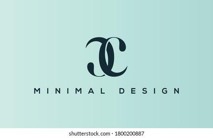 alphabet letters monogram icon logo CC