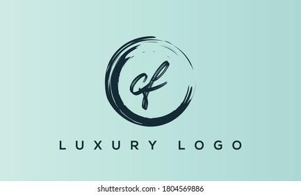 alphabet letters monogram icon logo CF or FC