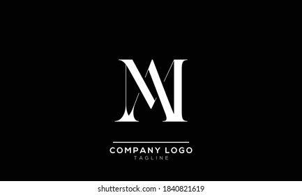 alphabet letters monogram icon logo AM or MA