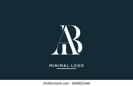 alphabet letters monogram icon logo AB or BA