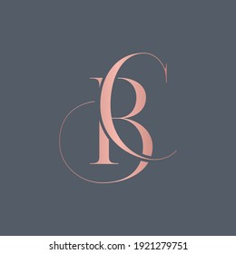 alphabet letters monogram icon logo BC or CB