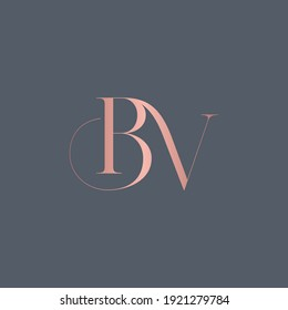 alphabet letters monogram icon logo BV or VB