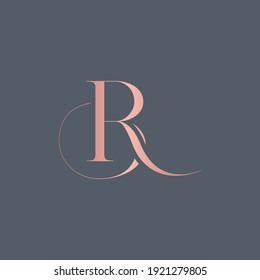 alphabet letters monogram icon logo BR or RB