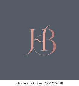 alphabet letters monogram icon logo BH or HB
