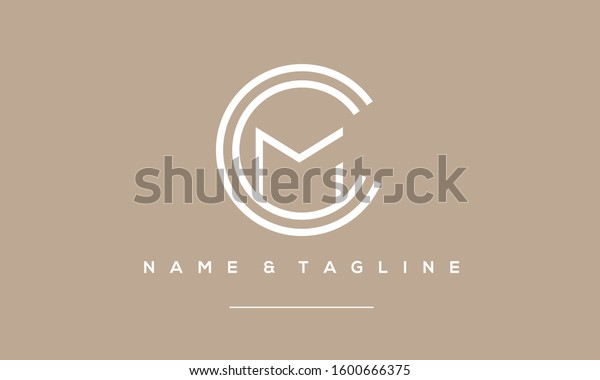 Alphabet Letters Monogram Icon Logo Ccm Stock Vector Royalty Free 1600666375