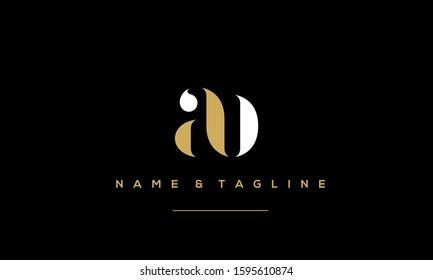 Alphabet letters monogram logo AB,BA,A and B