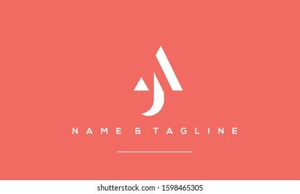Alphabet letters monogram logo AJ,JA,J and A