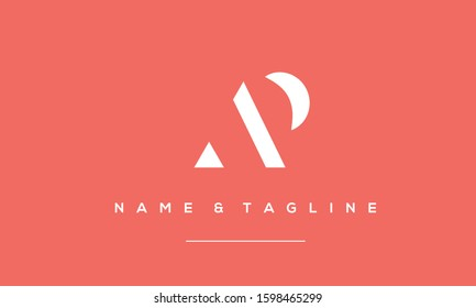 Alphabet letters monogram logo AP,PA,P and A