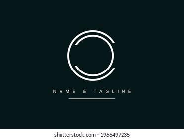 Alphabet letters monogram logo CC or C