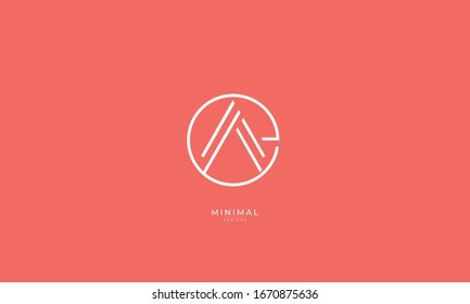 Alphabet letters monogram logo  EA or AE