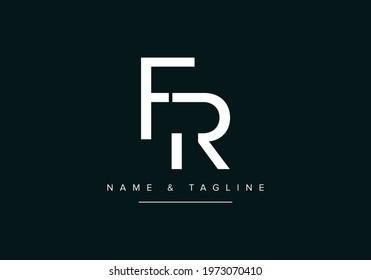 Alphabet letters monogram logo FR or RF