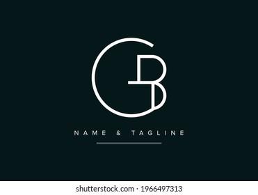 Alphabet letters monogram logo GB or BG