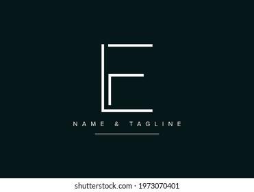 Alphabet letters monogram logo LF or FL