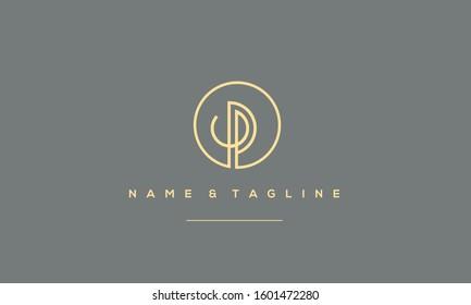 Alphabet letters monogram logo P