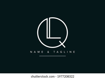 Alphabet letters monogram logo QL or LQ