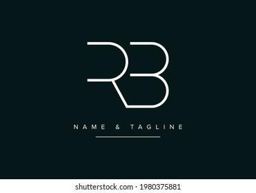 Alphabet letters monogram logo RB or BR