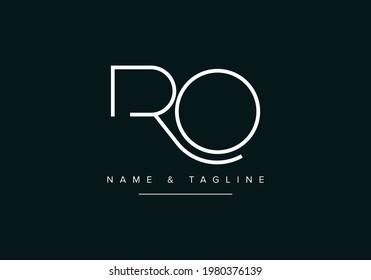 Alphabet letters monogram logo RO or OR