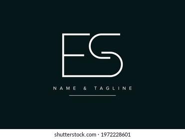 Alphabet letters monogram logo SE or ES