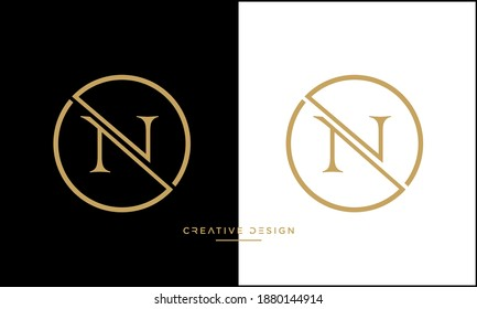 Alphabet Letters NV or VN icon Logo