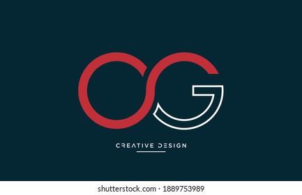Alphabet Letters OG or GO Icon logo
