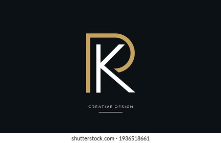Alphabet Letters PK or KP Abstract icon Logo
