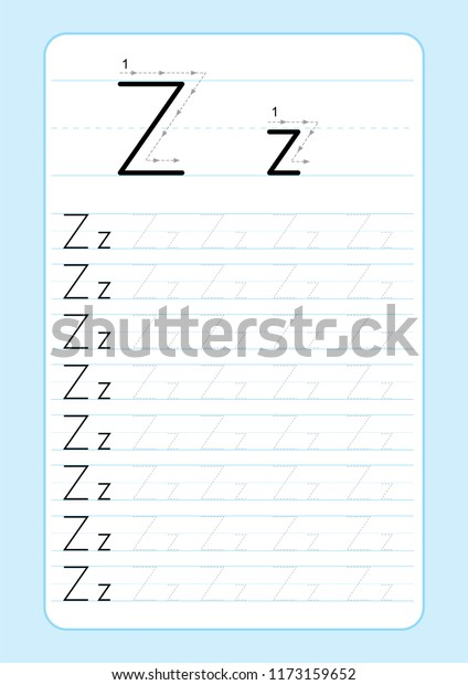 Alphabet Letters Tracing Worksheet Alphabet Letters Stock