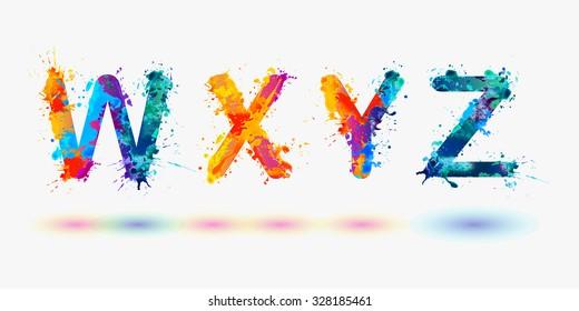 Alphabet. Letters W, X, Y, Z. Part 6