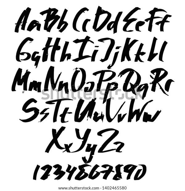 стоковая векторная графика Alphabet Lettersblack