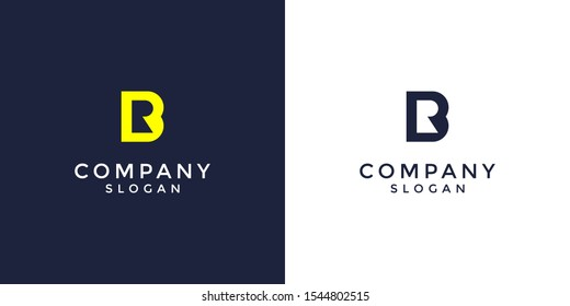 alphabet logo that combines 2 letters into one logo or symbol that is unique and original. consists of letters B and R. editable and easy to custom