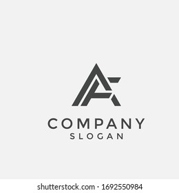 alphabet logo that combines 2 letters into one logo / symbol that is unique and original. consists of letters F and A. editable and easy to custom