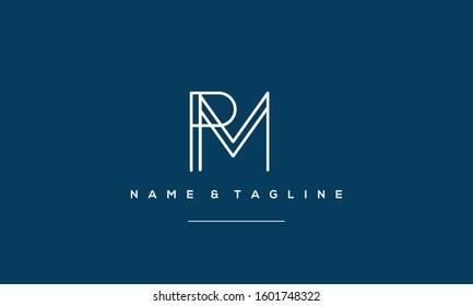 Alphabet monogram icon logo PM or MP