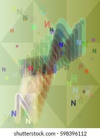 Alphabet N design idea