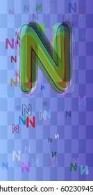 Alphabet N elements art