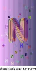 Alphabet N elements template