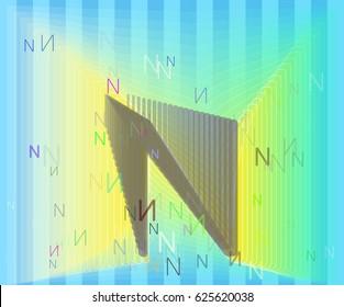 Alphabet N pattern template