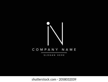 Alphabet IN NI monogram logo. Letter IN NI vector logo design