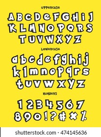 Alphabet, numbers, and phrases Alphabet in pokemon cartoon style