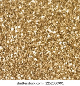 Alphabet Numerals Gold Sparkling Glitter Confetti. holiday symbols. vector