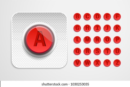 Alphabet from pills. Letters of tablets from blister pack. Pills font . 3d pills. 3d pills letters. Red tablets