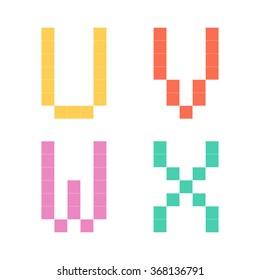 alphabet pixel color