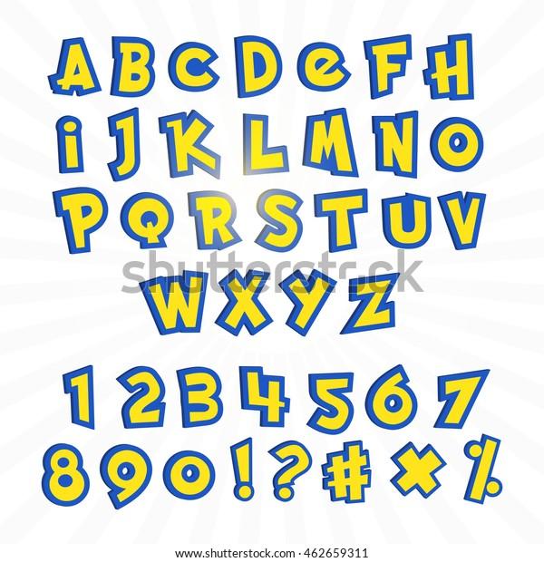 Image Vectorielle De Stock De Alphabet En Pokémon Style