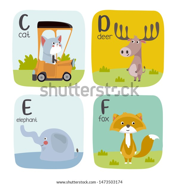 graphic about Zoo Animal Flash Cards Free Printable identify Alphabet Printable Flashcards Vector Variety Letter Inventory